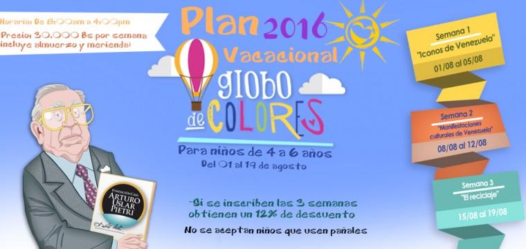 Plan Vacacional: Globo de Colores 2016